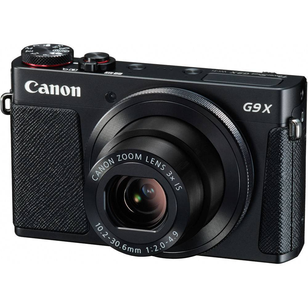Canon PowerShot G9 X Compact Digital Camera in Black or Silver