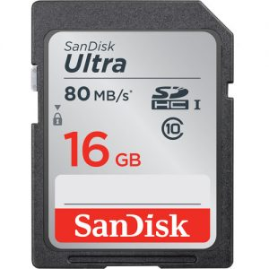 Sandisk 16GB Ultra SD Card 80MB/s MINIMUM ORDER 2 x CARDS IF ORDERED ALONE-0