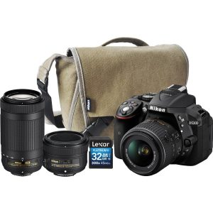 Nikon D5300 BODY+18-55MM AF-P VR +70-300MM AF-P DX+ 50mm f/2.8 + 16GB CARD+S/BAG (On-Line Only)-0