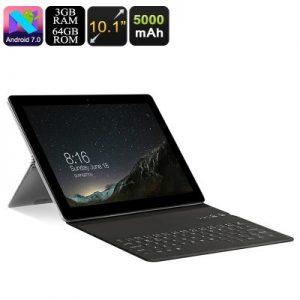 VOYO i8 Plus Tablet PC - 10.1 Inch Screen, Dual SIM 4G, Octa Core CPU, 3GB RAM, Android 7.0, Keyboard, 5000mAh Battery, -0